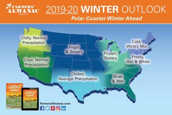 Farmers' Almanac 2019-2020 Winter Predictions Released