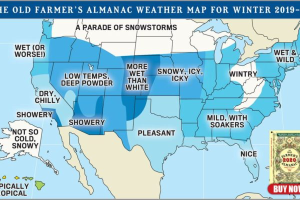 Low Temps, Deep Powder says Old Farmer's Almanac