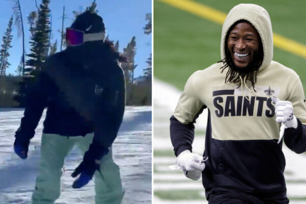 The Saints Alvin Kamara Goes Snowboarding